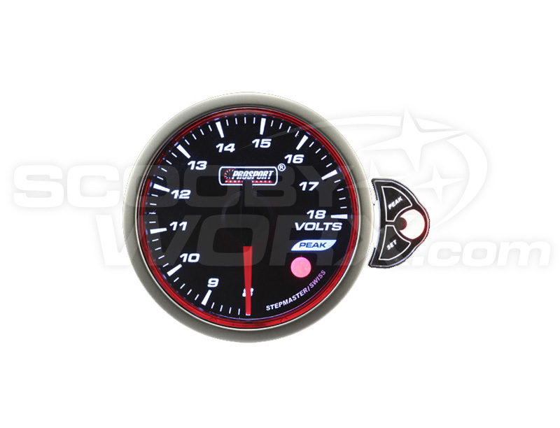 52mm Smoked Stepper Motor Touch Voltage Gauge