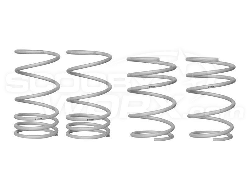 Whiteline WSK-SUB003 F and R Coil Springs - lowered
